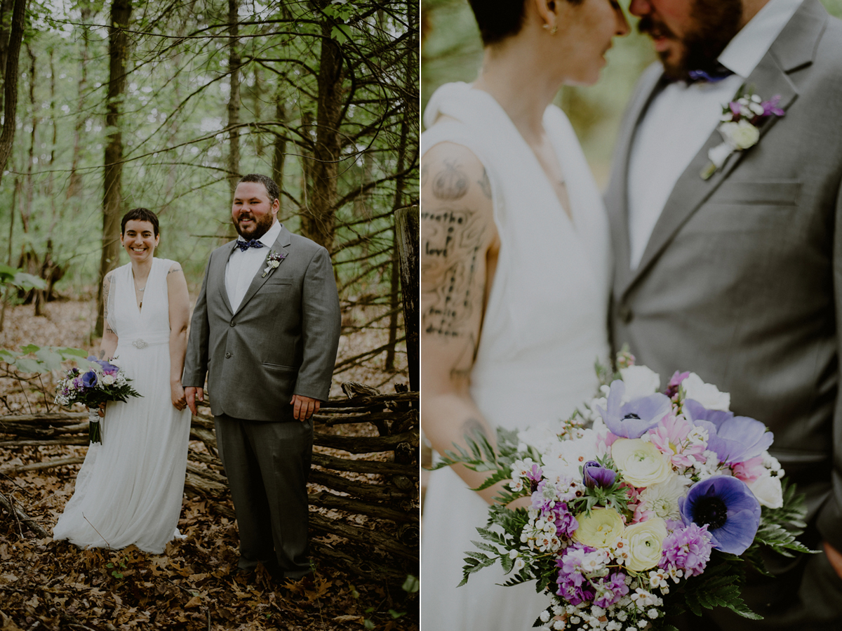 tattooed bride and groom wedding portraits in NJ