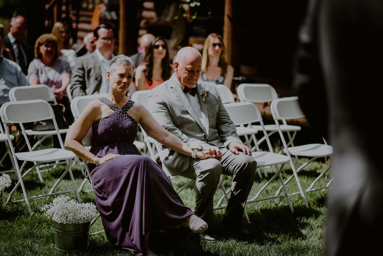 candid wedding photography moments during backyard wedding ceremony