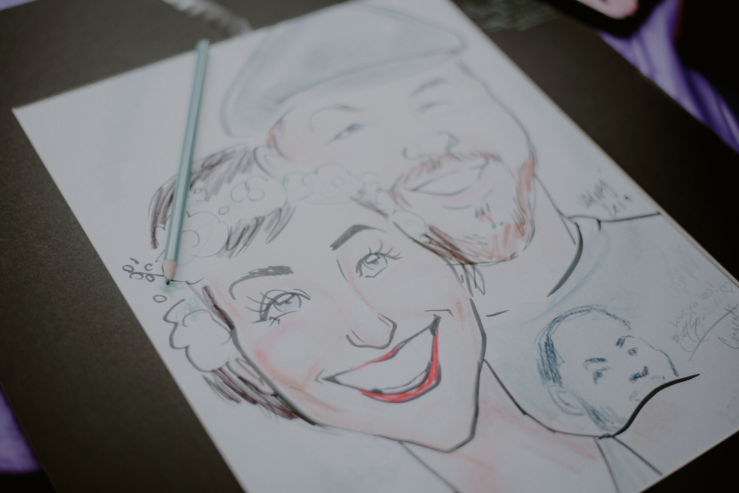 wedding caricature artist