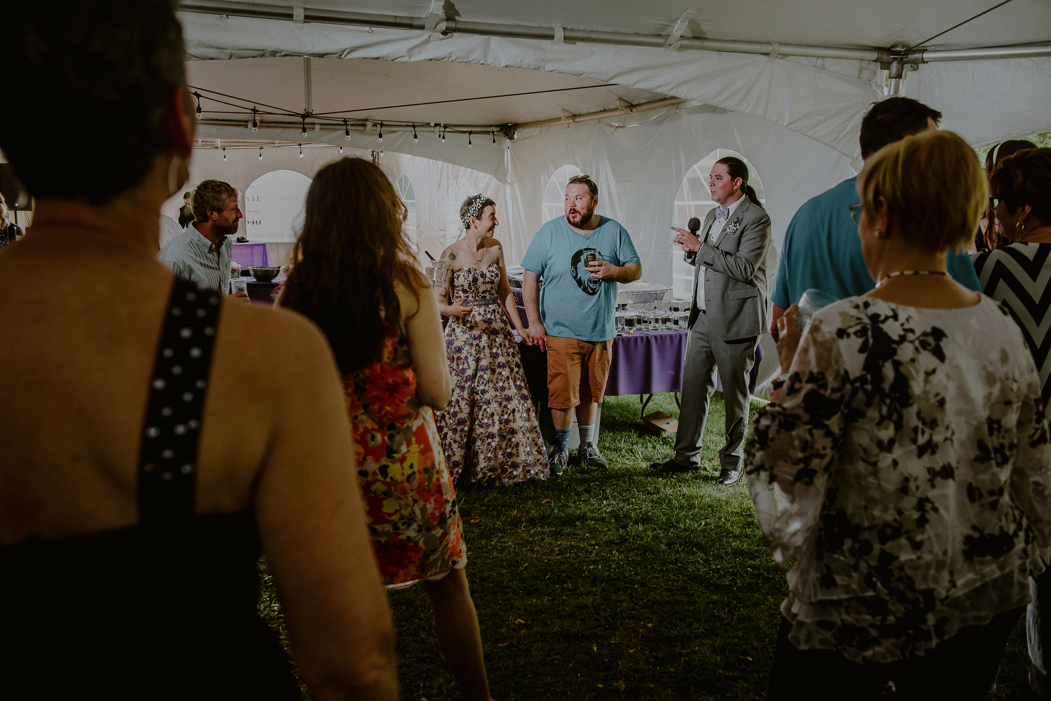 tented wedding reception funny speeches