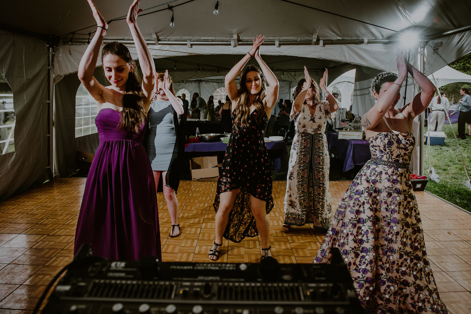 tended nj backyard wedding dance floor