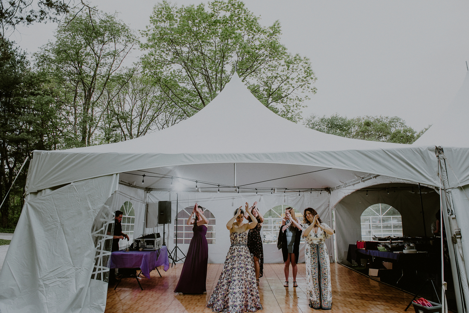 tented daytime nj wedding