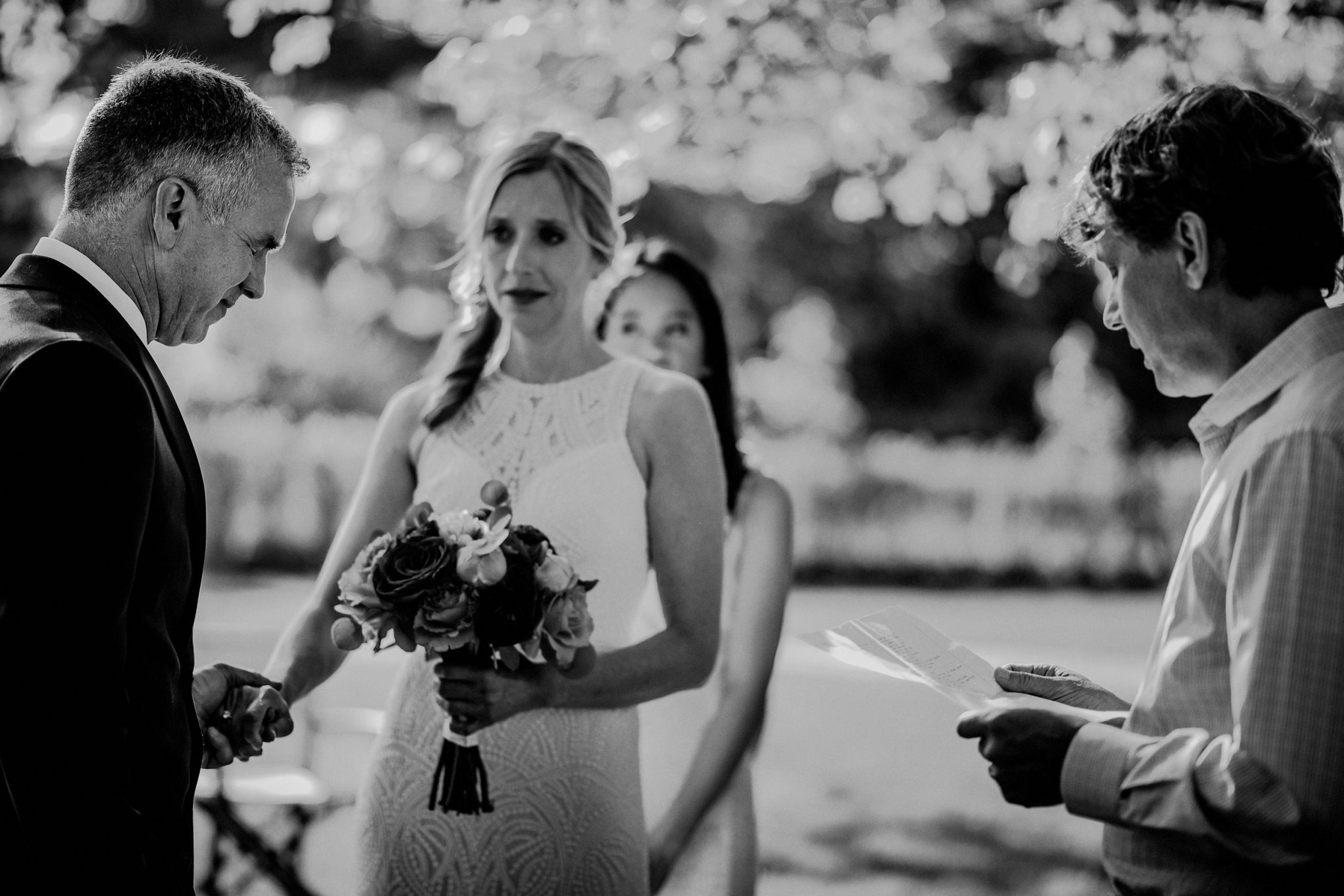 emotional candid moments during cape may wedding ceremony