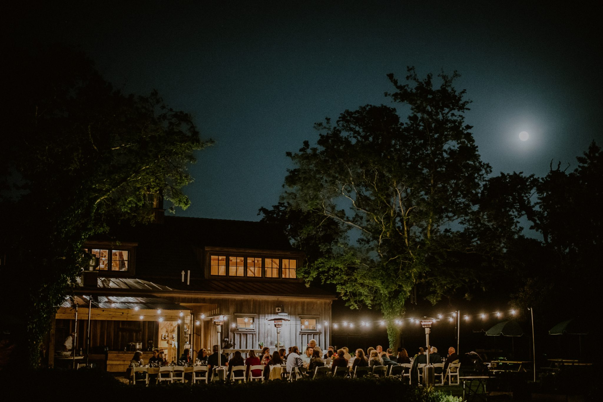 evening wedding reception in cape may at beach plum farm